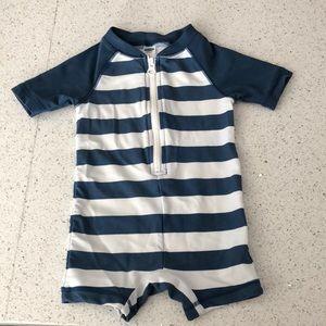 Baby boy short sleeve one piece rashguard